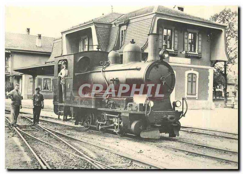 Postcard Modern G Echallens station around 1920