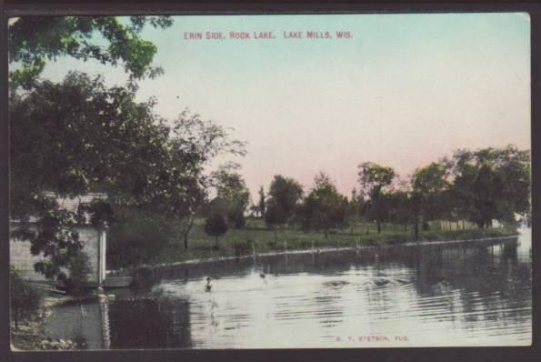 Erin Side,Rock Lake,Lake Mills,WI Postcard
