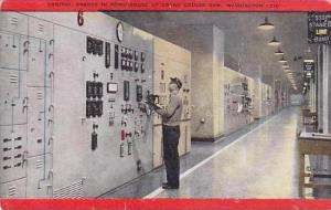 Washington Control Boards In Powerhouse At Grand Coulee Dam