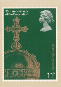 Stamps Of Great Britain 25th Anniversary Of The Coronation The Sovereign's Or...