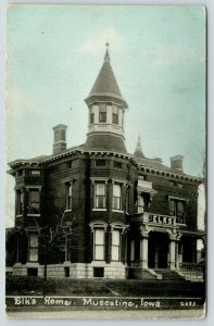 Muscatine Iowa~Elks Club~BPOE  Home~Victorian Architecture~1909 Blue Sky PC