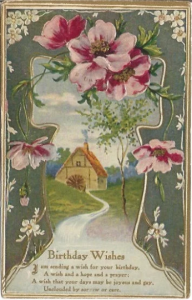 Pale Pink Wild Country Rose Framing Old Mill with Water Wheel in Country Meadow