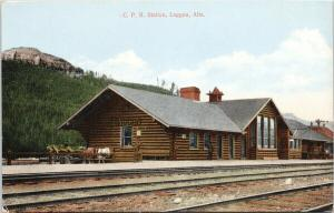 CPR Station Laggan AB Lake Louise now Rocky Mountaineer stop UNUSED Postcard D86
