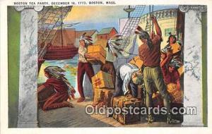 Boston Tea Party, December 16, 1773 Boston, Massachusetts USA Postcard Post C...