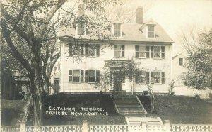 C-1910 Tasker Residence Exeter NewMarket New Hampshire RPPC Photo Postcard 5098