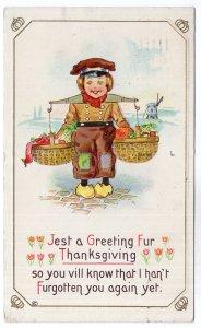 Jest a Greeting Fur Thanksgiving