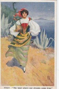 D.W., 1915 ; ITALY The Land where dreams come true.