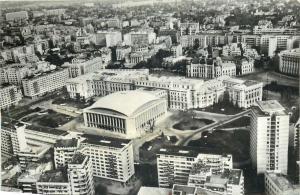 Romania Bucharest Palace Square panorama 1960s