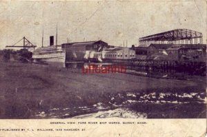 GENERAL VIEW, FORE RIVER SHIP WORKS, QUINCY, MA.