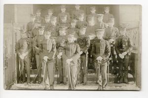 World War I US Army Soldiers Guns Swords Etc. RPPC Real Photo Postcard
