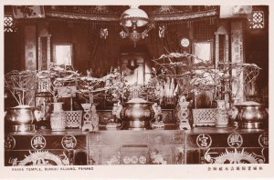 RP: PENANG , Malaysia , 1910s ; Snake Temple , Sungei Kluang