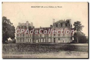 Postcard Old Beaufort Chateau De Monet