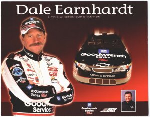 Dale Earnhardt The Intimidator  #3 Car Nascar  Photo Card Goodwrench