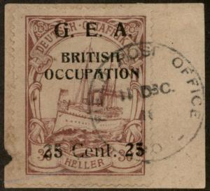 Germany 1918 East Africa Deutsch-Ostafrika DOA British Propaganda Forgery 85977