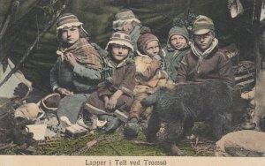 Lapper i Telt ved Tromso , Norway, 1900-10s