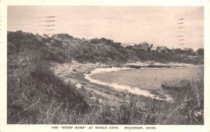 The Steep Bank in Rockport, Massachusetts at Whale Cove.