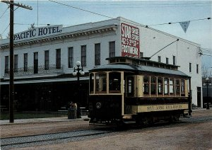 San Jose Street Cars Trolleys CA California Postcard