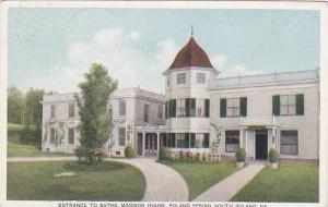 Maine South Poland Entrance To Baths Mansion House Poland Spring 1917