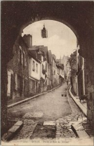 CPA DINAN Porte et Rue du Jerzual (1147725)
