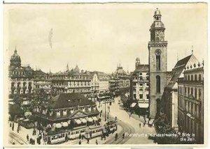 pc778 postcard Frankfurt Germany Hauptwache RPPC Postally used 1915