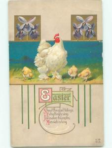 Divided-Back EASTER CHICK SCENE Cute Postcard AA0950