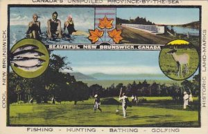 Canada's Unspoiled Province-By-The-Sea, Bathing, Hunting (Deer), Men Playing ...