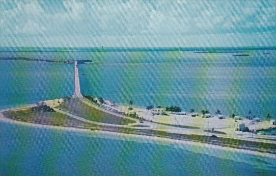 Florida Aerial View Of Bahia Honda Bridge In The Florida Keys