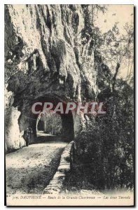 Old Postcard Dauphine Route Grande Chartreuse Both Tunnels