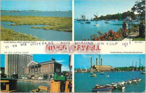 Postcard Modern River Orwell from Shotley Point Pin Mill The old Custom House