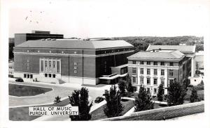 A58/ Lafayette Indiana In Postcard Purdue University 40s RPPC Hall of Music