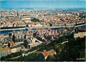 Postcard Modern Lyon General view taken of Fourviere
