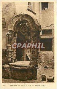 Old Postcard Riquewihr wells 1576 house kiener