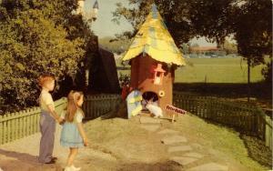 Oakland California~Children's Fairyland~Peter Rabbit's House~White Bunny~1950s