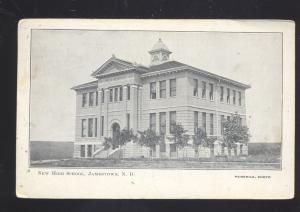 JAMESTOWN NORTH DAKOTA NEW HIGH SCHOOL BUILDING 1906 CLEVELAND ND POSTCARD