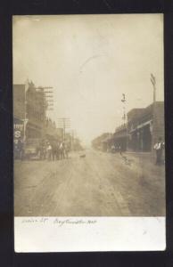 RPPC KEYTESVILLE MISSOURI DOWNTOWN MAIN STREET SCENE REAL PHOTO POSTCARD MO