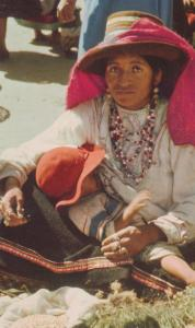 Peru Woman Of Yungay Fashion Costume Postcard