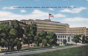 University of Michigan Hospital, with new addition, Ann Arbor, Michigan, 30-40s