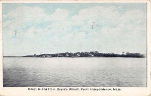 Point Independence Massachusetts Boyles Wharf Island Antique Postcard K77869