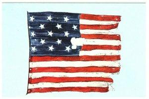 The Original Star Spangled Banner on Display Postcard