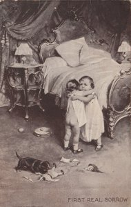 First Real Sorrow, Toddlers crying because dog destroyed doll, PU-1907