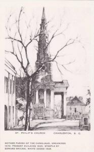 Charleston , South Carolina , 1910s ; St Philip´s Church , Artist Elizabeth ...