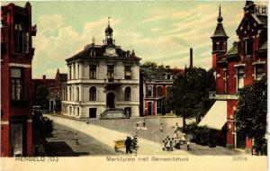 CPA Hengelo Marktplein met Gemeentehuis NETHERLANDS (728722)