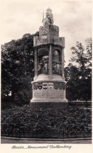 Breda Monument Valkenberg Holland Statue Real Photo WW2 Rare Wartime Postcard