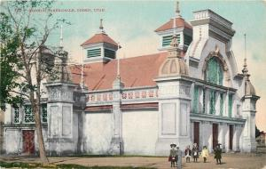 Ogden UT~Ornate Towers, Twin Belfreys~Mormon Tabernacle~1910 Postcard