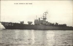 US Navy Naval Ship USS Garcia DE-1040 Postcard