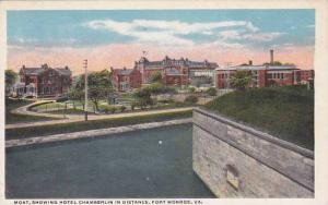 Virginia Fortress Monore Moat Showing Hotel Chamberlin In Distance