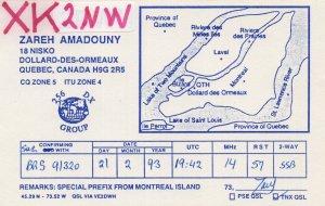 Dollard Des Ormeaux Quebec Canada QSL Radio Card