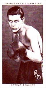 Churchman Cigarette Card Boxing Personalities No 10 Arthur Danahar