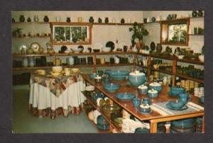 ME Rackliffe Pottery Shop BLUE HILL MAINE Postcard PC
