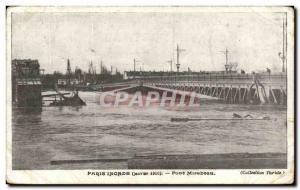 Postcard Old Paris Floods Pont Mirabeau